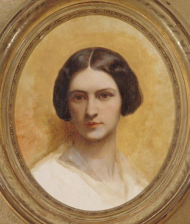 קורנליה שפר. דיוקן מאת אביה, ארי שפר. מוצג כיום במוזיאון החיים הרומנטיים