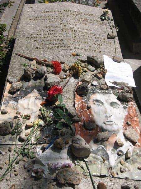 קברו של אמדאו מודיליאני. מקור צילום: ויקיפדיה.