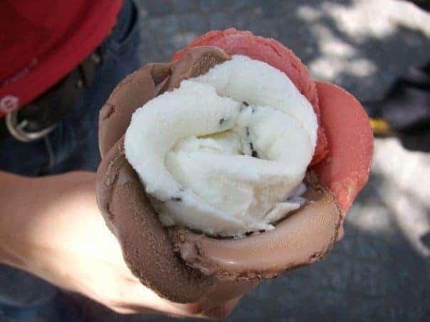 גלידה בצורת פרח של אמורינו