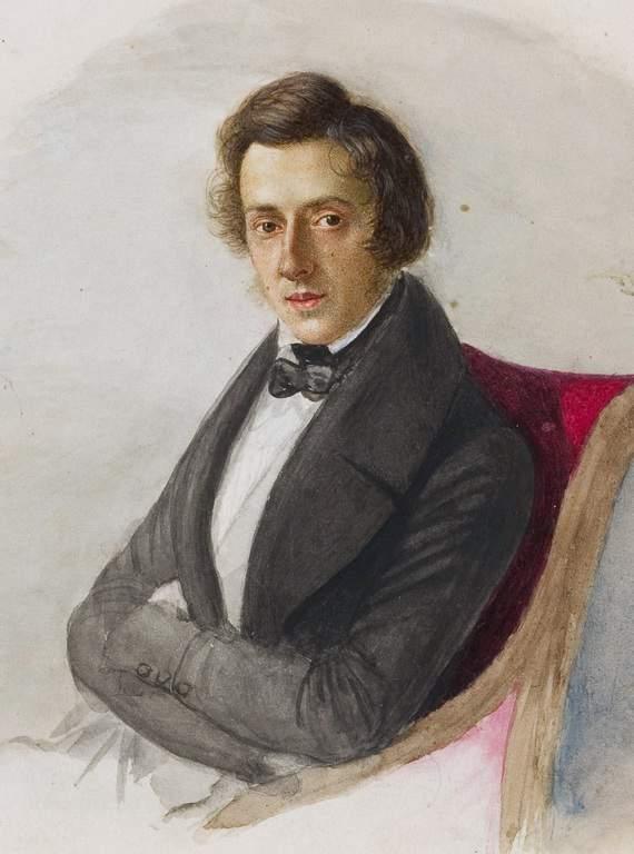 דיוקן של שופן מאת מאריה וודזינסקה, ארוסתו (1835)