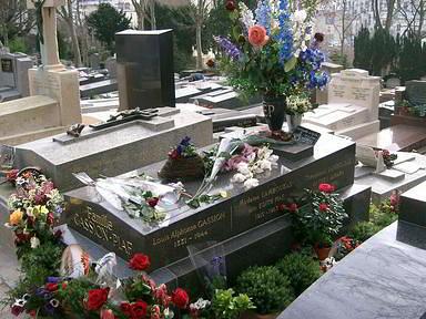 הקבר של אדית פיאף בפר לאשז