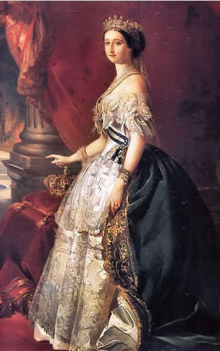 הקייסרית אג'ני לבושה בשמלה של וורת'
