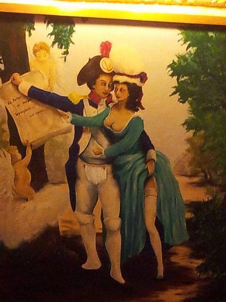 """ציורי קיר """"פיקנטיים"""" ב La Jacobine"""