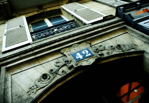 הבית של סארטר ברחוב Bonaparte 43