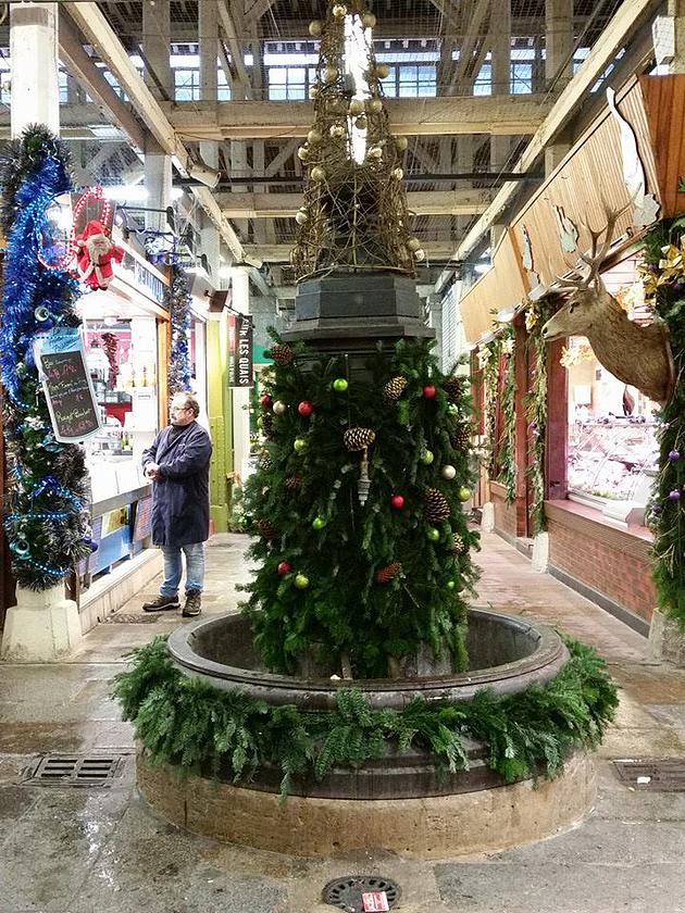 עץ חג המולד בשוק אליגרה