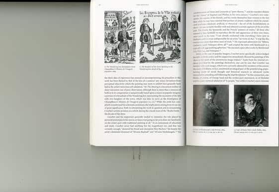 משמאל, היהודי הנודד, דף שער מ- Histoire de l'imagrie populaire Champfleury, 1869 מימין, פרט, הבורגנים של העיר פונים אל היהודי הנודד