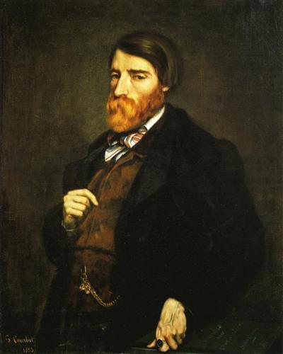 """פורטרט אלפרד ברויה, נקרא Tableau-Solution, 1853, ש/ב, 72X91 ס""""מ, מוזיאון פאבר, מונפלייה."""