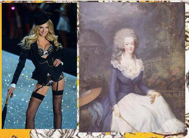 מארי אנטואנט בשמלת תחתונית וז'קט רכיבה גברי. אתם מדמיינים את קייט מידלטון פוגשת את אזרחי בריטניה בתחתונים ובלייזר?