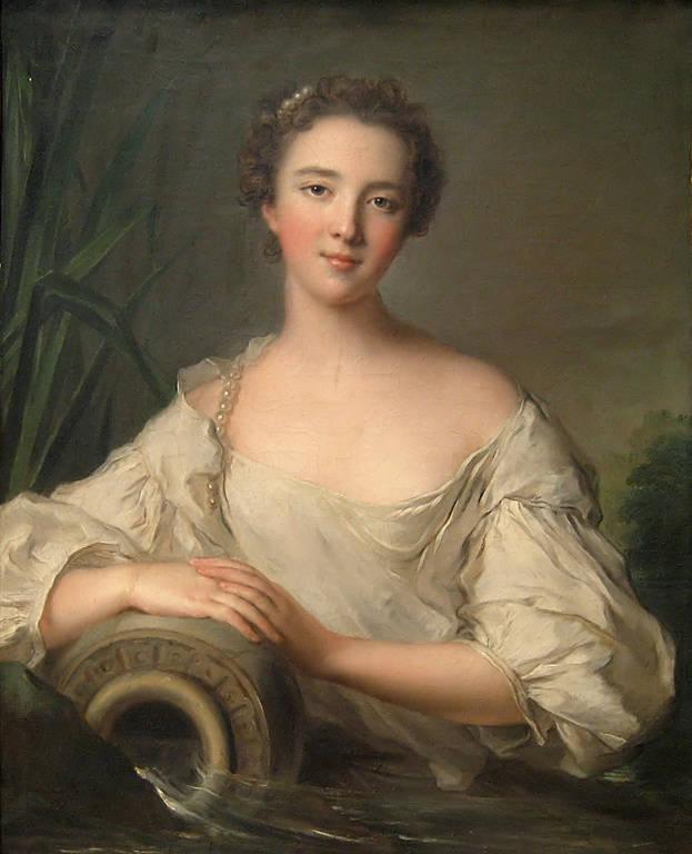 לואיז הנרייט דה בורבון-קונטי. ציור מאת ז'אן מארק נאטייה