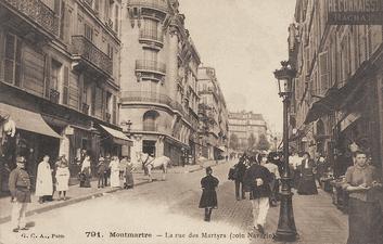 כך נראה רחוב Des Martyres במאה ה-19