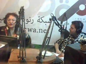 סיגל גלילי ואנוכי באולפן קול השלום.