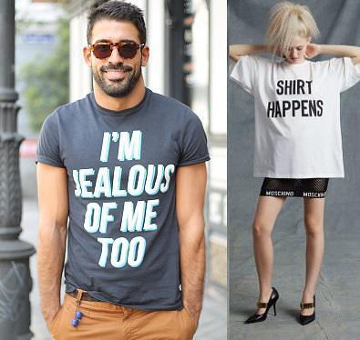דור הרשתות החברתיות לובש את דעותיו על הבגדים