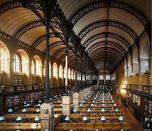 אולם הקריאה בספרייה שבסורבון