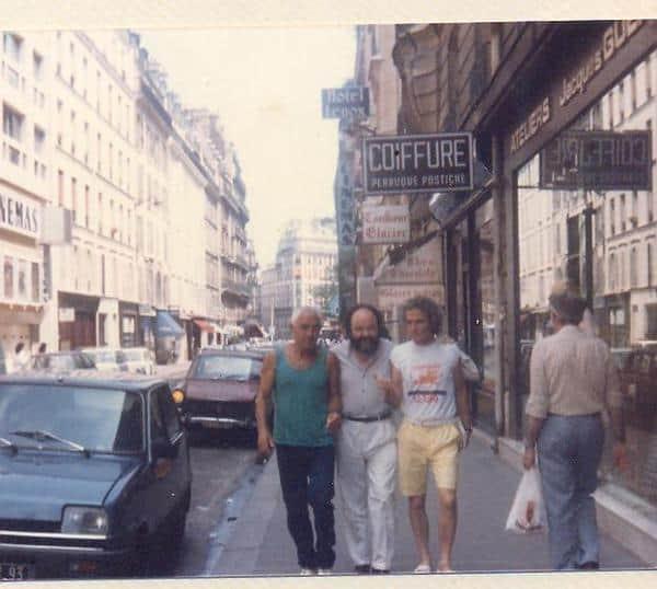 פריז 1986: מונפארנס עם ישראל גוריון ומשה נעים - הצילום ניתן באדיבותה של עידית נחומי