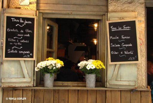 מסעדה ברחוב מונייר בעיר ליון. צילמה רבקה קופלר.