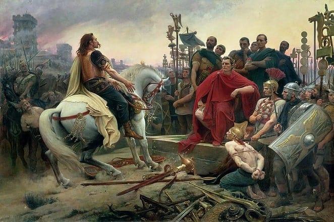 ורקינגטוריקס נכנע לקיסר - ציורו של ליונל רואייה