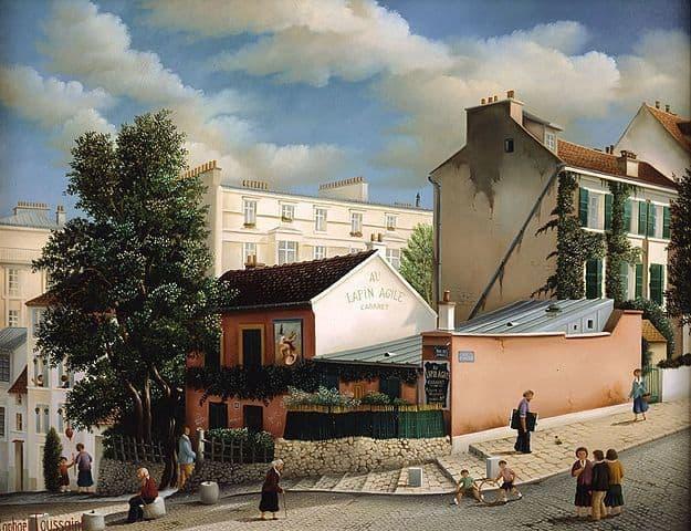 ציור של מועדון ה Lapin Agile מאת רפאל טוסאנט