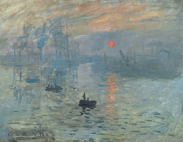 התרשמות, זריחה, קלוד מונה, 1872