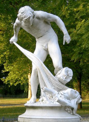 דייג המעלה בחכתו את ראשו של אורפיאוס (1883)