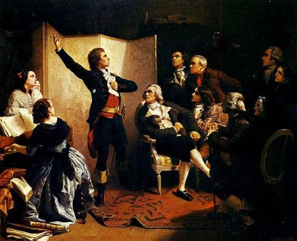 רוזה דה ליל שר את המנון צרפת המרסאייז. מקור תמונה: ויקיפדיה.