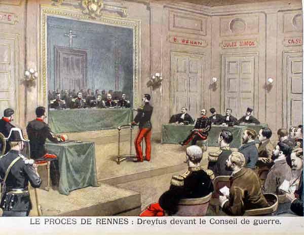 משפט דרייפוס השני בעיר רן. מקור צילום וויקיפדיה