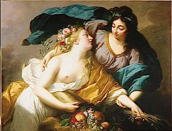 אליזבת ויז'ה לה ברן - השלום מחזירה את השפע. מקור תמונה ויקיפדיה.
