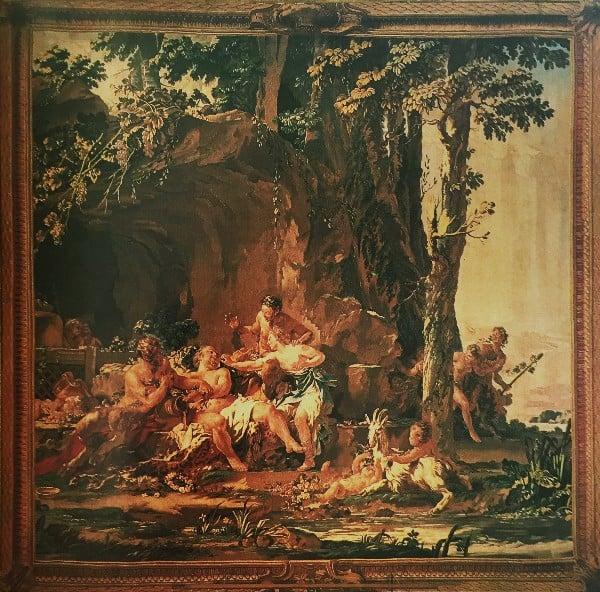 סילנוס מוצג במערתו כשאגליאה מכתימה אותו בתותים.