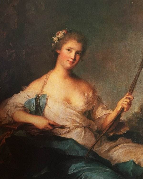 דיוקן מאדאם דה לה פורט בדמות דיאנה נאטייה (ז׳אן מארק), צרפת 1740.