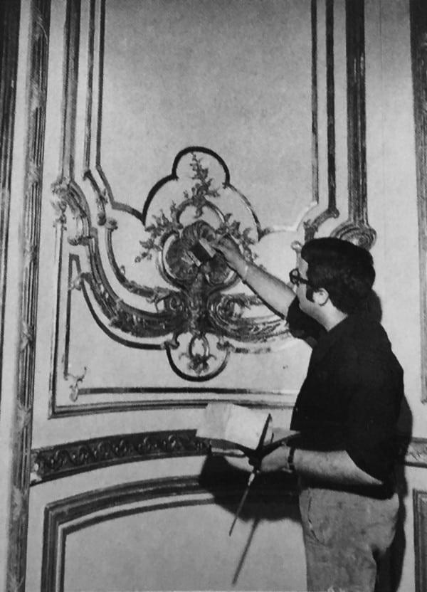 התקנת החדר במוזיאון ישראל בירושלים, שנות השישים המאוחרות של המאה ה-20.