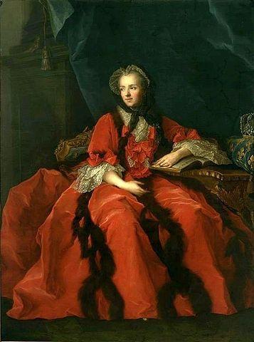 ז'אן מרק נטייה, מריה לשצינסקה, מלכת צרפת קוראת בברית החדשה, 1748. מקור צילום וויקיפדיה