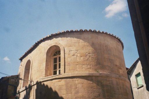מה שהיה הרובע היהודי בטרקסקון. מבנה ששימש בית כנסת, וסמטת היהודים.