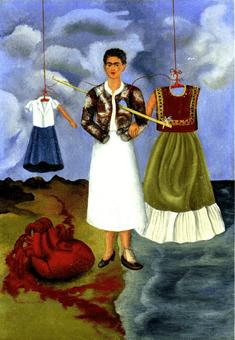 פרידה קאלו, זכרון (הלב), 1937, שמן על מתכת, 40X28.3 ס