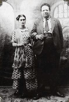 פרידה ודייגו ביום חתונתם