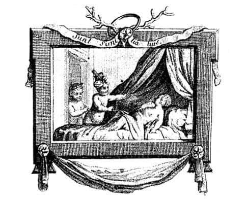"""תמונת השער של ספרו של דידרו """"הצעצועים הלא דיסקרטיים"""". מקור ציור וויקיפדיה."""