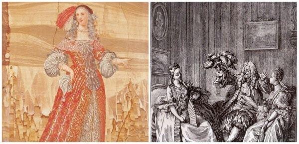 תמונות מהמחזה הענוגות הנלעגות מאת מולייר - מקור צילום וויקיפדיה.