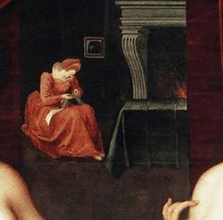 גבריאל ד'סטרה ואחת מאחיותיה, המשרתת/מכשפה, פרט