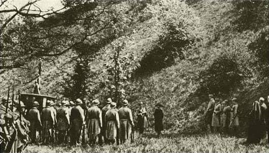 הוצאתה להורג של מאטה הארי מתוך סרט משנת 1920. מקור צילום ויקיפדיה