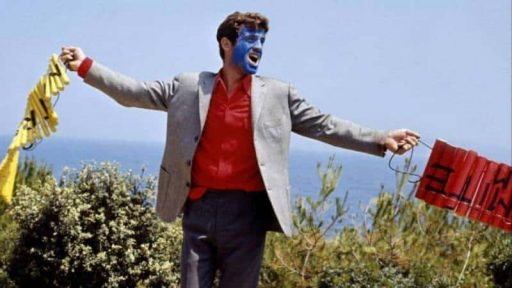 ז'אן פול בלמונדו בסרטו פיירו המשוגע.