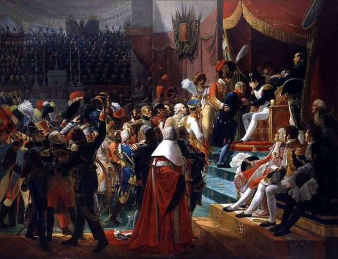 ז'אן ת'ורל מקבל את אות ליגיון הכבוד מידי נפוליון. מקור תמונה ויקיפדיה
