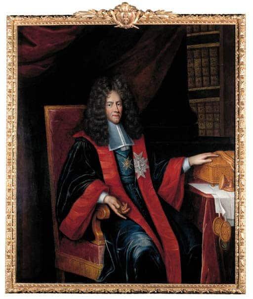 לואי דה פונשרטראן, רוזן פיליפו, ראש ממשלת צרפת בתקופת לואי ה-14 לובש את תליון מסדר