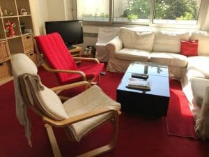 הסלון בדירה ברחוב Beccaria