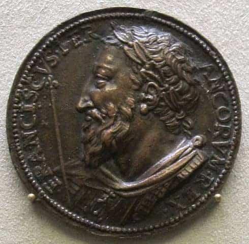 בנוונוטו צ'ליני, פרנסואה ה-1, מדליה, 1538. מקור צילום ויקיפדיה