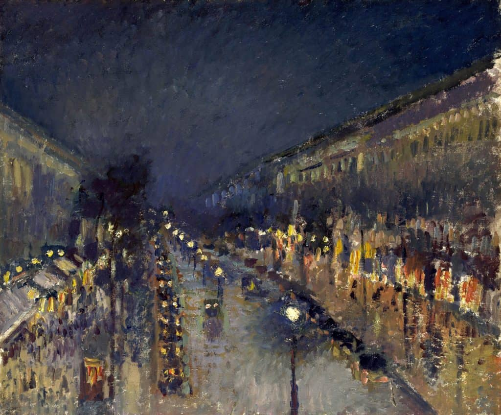 בולבאר מונמארטר, אפקט לילה, 1897, מקור צילום: ויקימדיה