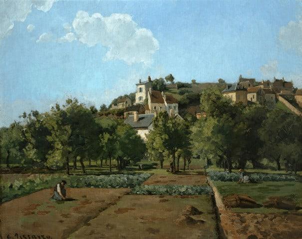 Camille Pissarro, Le Jardin de Maubuisson, 1867 קאמי פיסארו, גן מוֹבְּוויסוֹן, 1867
