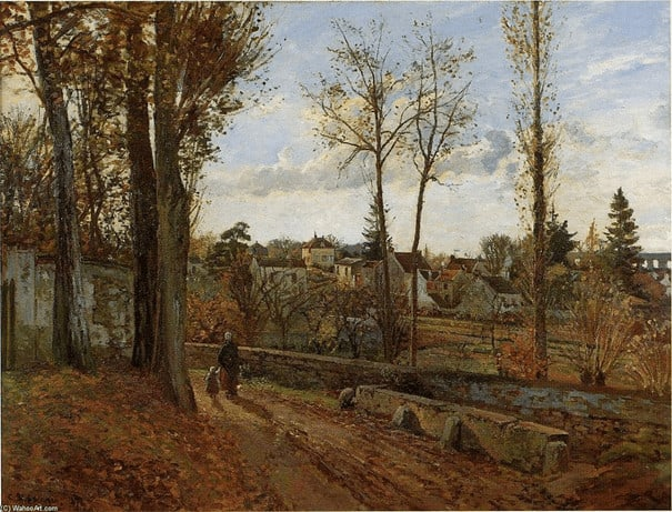 Camille Pissarro, Louveciennes, 1871 קאמי פיסארו, לוּבֶסְיֵין, 1871