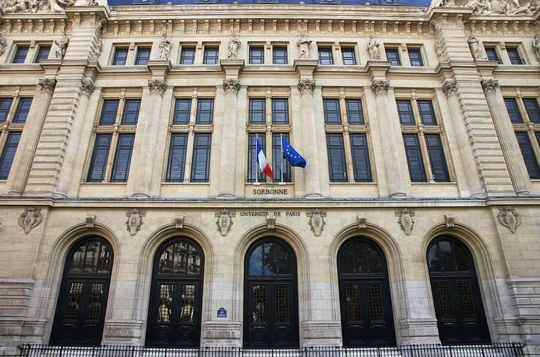 הכניסה החדשה לאוניברסיטה מהמאה ה-19. מקור צילום: ויקיפדיה.