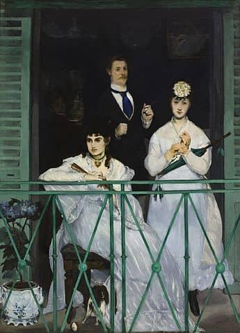 אדואר מאנה, המרפסת, 1869, מוזיאון דוֹרְסֶה. מקור תמונה ויקיפדיה.