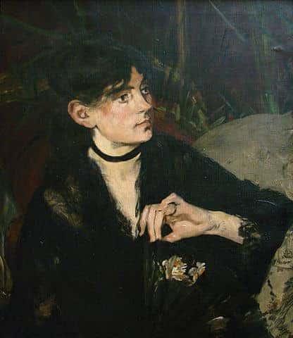 אדואר מאנה, ברת מוריזו עם מניפה, 1874, מוזיאון לאמנויות יפות, ליל. מקור תמונה ויקיפדיה.