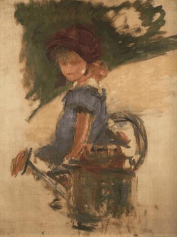 אדואר מאנה, ז'ולי מאנה יושבת על משפך, 1882, אוסף פרטי