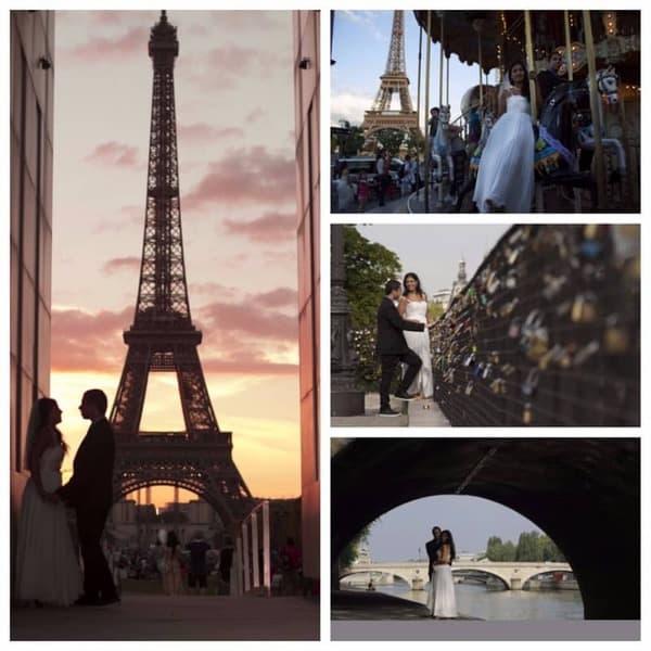 צילומי חתן-כלה בפריז. צילום: יוני רובינס.